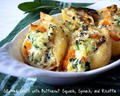 Butternut squash, ricotta, spinach, stuffed shells