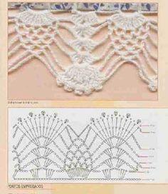 "Barradinhos de Crochet | Mundo do Artesanato [   ""Use imgbox to upload, host and share all your images. It"