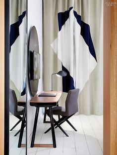 Ministry of Chic: Hôtel du Ministère by Agence François Champsaur | François Champsaur paired his own chair with a Christophe Delcourt desk. #interiordesign #interiordesignmagazine #projects #hospitality #hotels