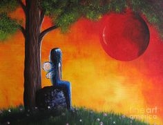 The Day She Found Beautiful By Shawna Erback Painting