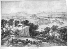 A View of Poonah, near Bombay, from the Illustrated London News, 1875 #Pune