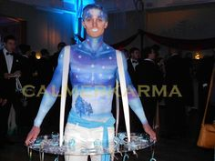 Winter Wonderland Canape hostesses and canape hosts to hire across the UK delivering your canapes with a delicious smile and  a little theatre. tel:  0203 602 9540