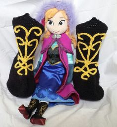 Frozen Princess Anna Inspired Crochet Boot by SweetPeaCove on Etsy
