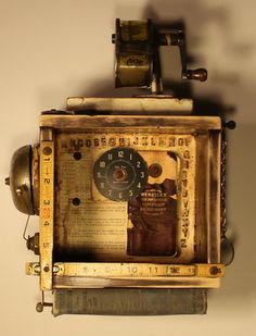 Simple Learning--Timeless Series is a mixed media assemblage created by Whawi member artist Kathy Moore.