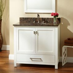 """36"""" Modero Vanity for Undermount Sink with Copper Sink"""