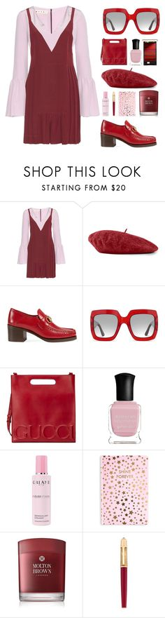 """feel my love."" by the-vagabond on Polyvore featuring Marni, Gucci, Deborah Lippmann, Orlane, Tri-coastal Design, Molton Brown, Cartier, L'Oréal Paris, NYFW and Fall"