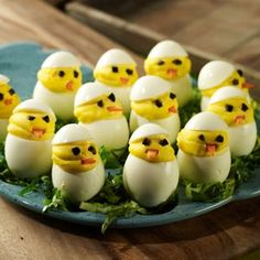 Check out these Deviled Egg Chicks - cute and so tasty!