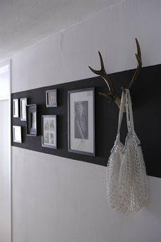 Peinture bande noire dans couloir Nightlife via Nat et nature