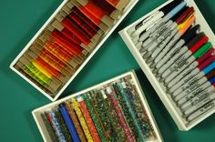 How to make custom foamcore boxes to store your art supplies - genius!