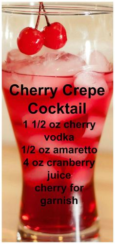 Cherry Crepe Cherry Crepe Coacktail Recipe typesofalcoholicdrink Cherry Crepe Cherry Crepe Coacktail Recipe typesofalcoholicdrinks The post Cherry Crepe Cherry Crepe Coacktail Recipe typesofalcoholicdrink appeared first on Getränk. Mezcal Cocktails, Cocktail Drinks, Sangria, Cocktail Recipes, Liquor Drinks, Non Alcoholic Drinks, Bourbon Drinks, Cherry Vodka Drinks, Cherry Drink
