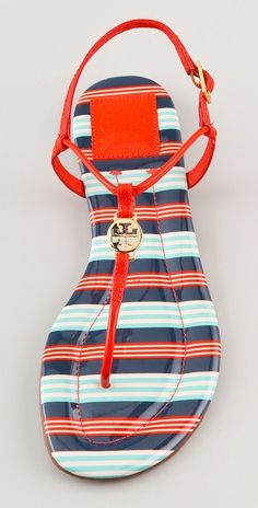 89400953c Emmy Flat Thong Sandals (via Tory Burch) perfect for a ride around town!  Wear them with a plain sundress for a summery pop of color.