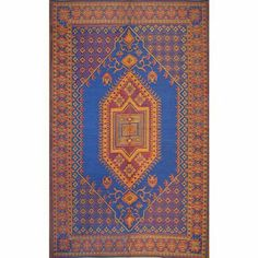 "Indoor Outdoor Rug Runner - 2.5' X 8' - Turkish Royal Blue by Mariachi. $59.99. Waterproof and washable outdoor rugs. Indoor/outdoor, non-skid surface, reversible. Wonderful color.. 30"" x 8 ft Runner. Made of recycled polypropylene which is a plastic like material.. Decorative outdoor runner with the perfect marriage of functionality and decorative design. Woven using multi colored polypropylene threads. Polypropylene is a plastic rubber like material so you can leave these ..."
