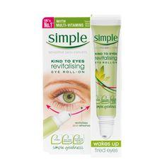 Kühlender Augen Roll-On von Simple Kosmetik gegen Augenringe