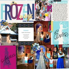 Disneyland's Frozen digital Project Life page featuring Project Mouse: Ice by Britt-ish Designs and Sahlin Studio Scrapbook Designs, Scrapbook Page Layouts, Scrapbook Pages, Digital Project Life, Digital Scrapbooking, Scrapbooking Ideas, Life Page, Disney Scrapbook, Disney Style