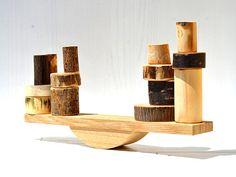 Wooden balance toy, Wood balancing toy, Set of learning toys, Waldorf wood blocks, Fine motor skills The Block, Sorting Colors, Baby Sensory Toys, Developmental Toys, Montessori Toys, Wooden Rings, Learning Toys, Wooden Blocks, Wood Toys
