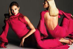 Quintessentially Valentino Grecian Goddess Magenta Ruffles Silk Coctail Dress   eBay