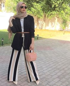 Hijab spring 2018 - Hijab spring 2017 – Just Trendy Girls Modern Hijab Fashion, Hijab Fashion Inspiration, Islamic Fashion, Muslim Fashion, Work Fashion, Fashion 2020, Modest Fashion, Fashion Outfits, Street Fashion