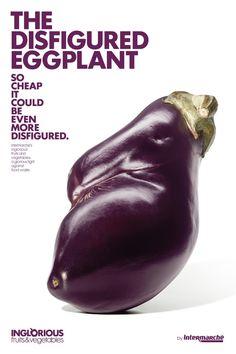 Intermarche: Disfigured Eggplant - Marcel, Paris, France #ad #advertising #advertisement