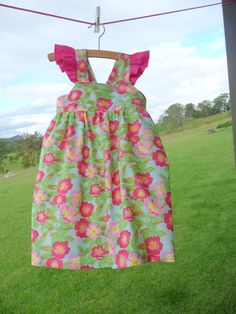 Girls dress to fit 12 months to 6 years by NaturalKidsClothing