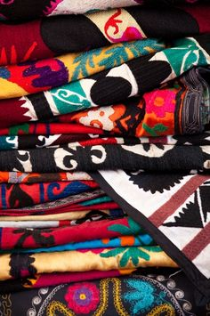 Indian Textiles. I am not currently stocking the Suzani Quilts but I am certainly thinking about it...