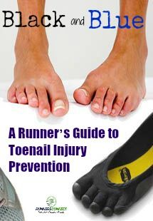 """Anyone who's ever run a tough, hilly race or long run more than a few times, especially on trails, can probably guess what """"jogger's toe"""" refers to. The black,"""