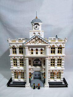 Bildergebnis für lego school of Architecture Legos, Chateau Lego, Lego Super Mario, Lego Building Blocks, Building Ideas, Lego Modular, Lego Castle, Lego Worlds, Cool Lego Creations