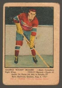 #4 Maurice Richard (1951-1952) - Parkhurst Products Ice Hockey card. New on http://colnect.com/sports_cards