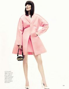 la chica de rosa: querelle jansen by jason kibbler for vogue spain august 2012 She's A Lady, Vogue Spain, My Favorite Color, Daily Fashion, Pretty In Pink, Pink Purple, Editorial Fashion, Fashion Looks, Glamour