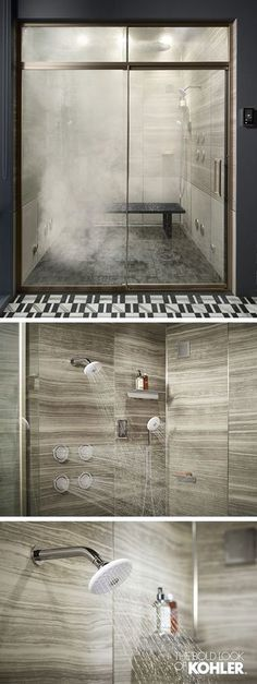 The Minimalism Unveiled Master Bath offers an elevated shower experience; control water volume, temperature, and steam.