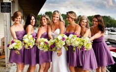 Beautiful bright citrus green and purple wedding by Rowell Photography