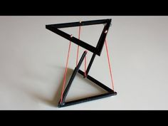 Tensegrity Physics Toy Illusion I Floating Table Held Up By Only Strings I Levitating Strings I Wood Projects, Woodworking Projects, Woodworking Furniture, Magic Table, Floating Table, Floating Shelves, Diy Stool, 3d Prints, Build Your Own