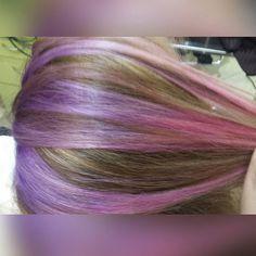 #Toronto #hairpost #hairpainting #freehand #pravana #pravanapastels #pink #purple #coral  #underlights #peekaboos #colormelt #hairbyme #nofilter #torontohairstylist #mermaidhair #pinksandpurples #behindthechair #modernsalon @yourspace_salons