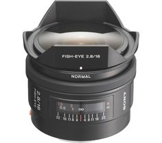 SONY  16 mm f/2.8 Fisheye Lens Price: £ 799.00 Top features: - Ultra-wide shots with compelling exaggerated perspective - Beautiful photographs from refined optical components - Four selectable internal filters for different lighting and atmosphere settings Ultra-wide shots Achieve truly unique results with the Sony SAL16F28 16 mm f/2.8 Fisheye Lens . Its extra-short focal length gives an...