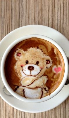 #Latte art :*¨¨*:Coffee♥Art:*¨¨*: Teddy Bear otakumode.com