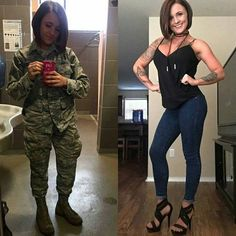 Women who look gorgeous in uniform and just as sexy out of it : theCHIVE Military Girl, Military Jacket, Sexy Nurse, Looking Gorgeous, Beautiful, Military Women, Armada, Girls Uniforms, Looking For Women