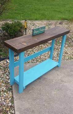 Valspar Blue, Forest Conservation, Dark Walnut Stain, Wood Display, Custom Woodworking, How To Distress Wood, Types Of Wood, Sofa Tables, Entry Tables