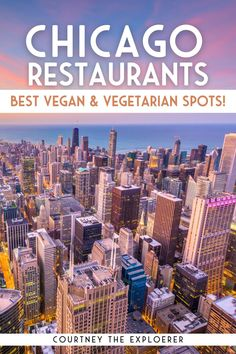 These Chicago Restaurants are the BEST places to eat for vegan and vegetarian travelers. Trust me, I'm your local travel guide. Visit www.courtneytheexplorer.com for more Chicago travel inspiration! Chicago Travel, Usa Travel, Us Travel Destinations, Places To Travel, Travel Guides, Travel Tips, Chicago Restaurants Best, Usa Trip, Ultimate Travel