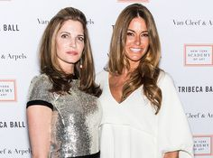 Models Stephanie Seymour and Kelly Bensimon attend the 2015 Tribeca Ball at New York Academy of Art on April 13 2015 in New York City