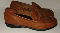 Aetrex Womens Leather Shoes Size 10 Brown Leather Loafer Style NEW Not Worn A34 #Aetrex #Loafers
