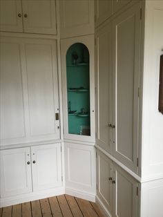 otsfoi New kitchen cabinets painted turquoise butler pantry ideas # Glass Front Cabinets, White Kitchen Cabinets, Painting Kitchen Cabinets, Kitchen Shelves, Wall Cabinets, Ikea Island, Cheap Designer Clothes, Turquoise Kitchen, Butler Pantry