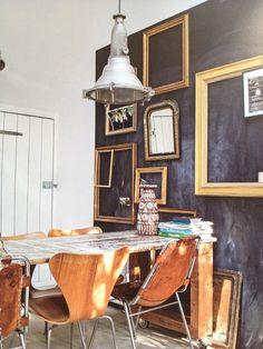 Molduras em blackboards
