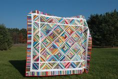 Gorgeous scrap quilt by Lori of Sewfrench, via Flickr