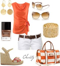 """""""summer coral"""" by cvock on Polyvore"""