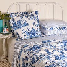 housse de couette bise bleu c leste percale 140x200 sonia rykiel housses de couette et c leste. Black Bedroom Furniture Sets. Home Design Ideas