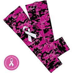 0a606086603 Women s Cycling Armwarmers - Pink Digital Camo Ribbon Arm Sleeve   gt  gt  gt