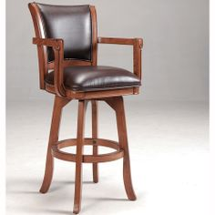 Swivel Bar Stools With Arms | ... Swivel Bar Stool By Hillsdale Furniture |