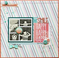 Lilith's scrapbooking venture: Scraptastic August kits. Classy Girl and add on. photo collage.