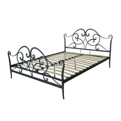 Found it at Wayfair - Bed Frame Bunk Bed Mattress, Bed Frame Sizes, Shabby Home, Queen Platform Bed, Metal Panels, Beds Online, Bed Reviews, Full Bed, Metal Beds
