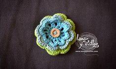 Free Flower Crochet flower pattern free pattern