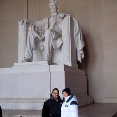 Us and Pres. Lincoln in Washington DC